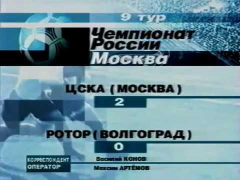 ЦСКА - Ротор 2:0 - 29.04.2002.