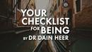 Ваша памятка Как быть собой Your Checklist for Being By Dr Dain Heer