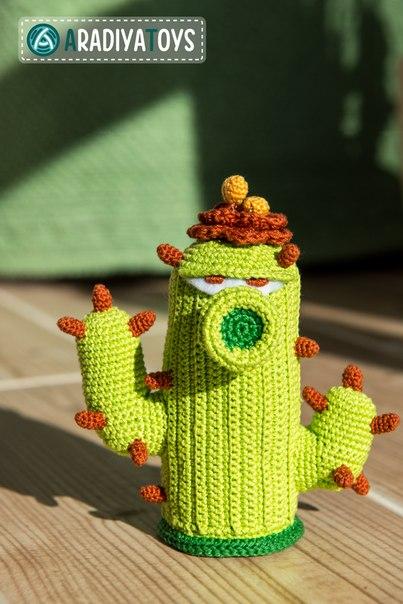 созданию вязаного кактуса