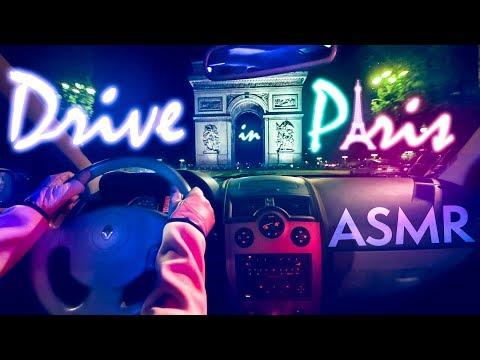 [ASMR] Car DRIVE in Paris by Night | Relax Sleep - NO TALKING