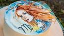 Торт Дева👩. Рисуем на творожном ганаше🎨- Я - ТОРТодел!