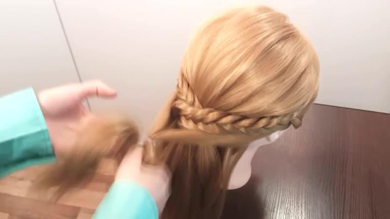 Вечерние прически на длинные волосы Прическа на выпускной вечер в школу Beautiful Hairstyles