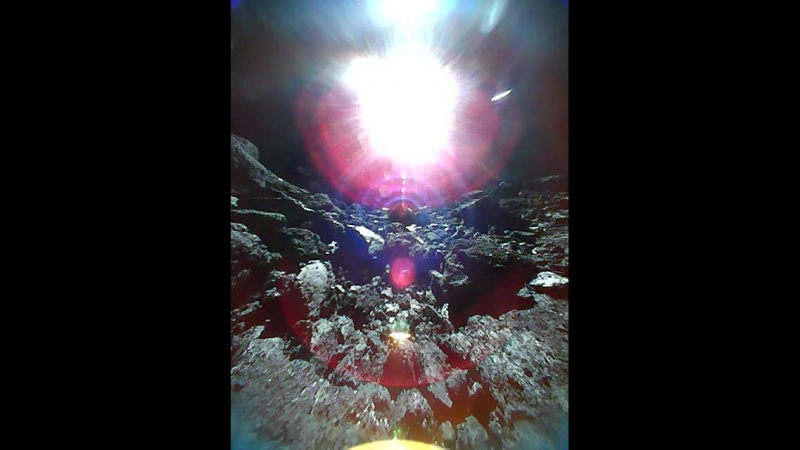 Rover 1B succeeded in shooting a movie on Ryugu's surface The movie has 15 frames capture