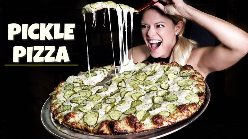 Pickle Pizza Mukbang QC Pizza Twin Cities