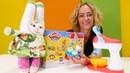 Nicole hat eine Überraschung für Bunny. Playdoh Spielzeug für Kinder