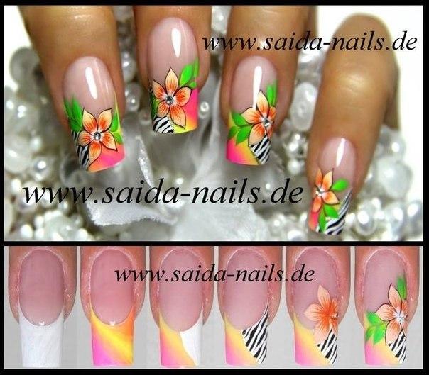Дизайн ногтей песком пошагово