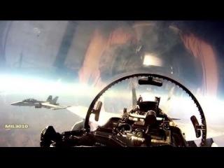 Истребители F/A-18 Вид из кабины пилота / Морская пехота США в Австралии