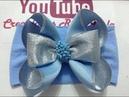 Moño azul/plata VIDEO No.645 Creaciones Rosa Isela