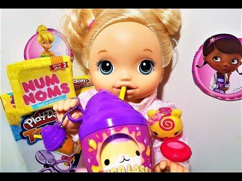 Куклы пупсики открываем сюрпризы НЯМ НЯМС И СМУШИ МУШИ Видео с куклами пупсики мультики