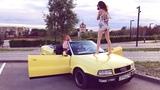 Сексуальная Алёна и Audi Cabriolet