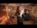 Log Cabin Life Alone with my Dog in the Off Grid Pallet Wood Cabin