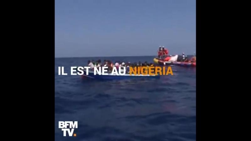 BFMTV la chaîne du juif Drahi a tenu à célébrer l'anniversaire supposé d'un nègre du Nigéria à bord de l'Aquarius
