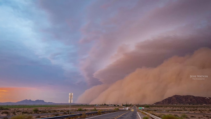 Monstrous Haboob Sweeps Across Southern Arizona! 4K