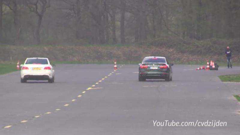 2018 Alpina BMW B7 BiTurbo vs Audi RS6 C7 Avant vs E63 AMG (720p) (via Skyload)