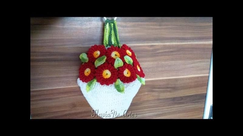 🌼Puxa Saco jarro de flores DIY