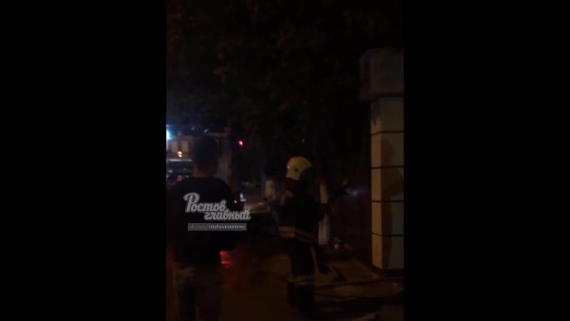 На Ленина сгорел киоск 30.8.2018 Ростов-на-Дону Главный