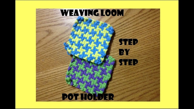 Mary's Houndstooth Potholder Weaving Loom Tutorial