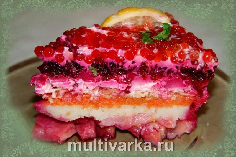 Шуба с красной рыбой рецепт фото