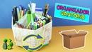Organizador Giratorio PASO A PASO Reciclaje Manualidades con cartón - Ecobrisa DIY