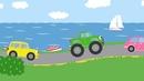 Развивающие песни для детей Бип Бип Мультики про машинки Учим цвета и животных learn color yes papa
