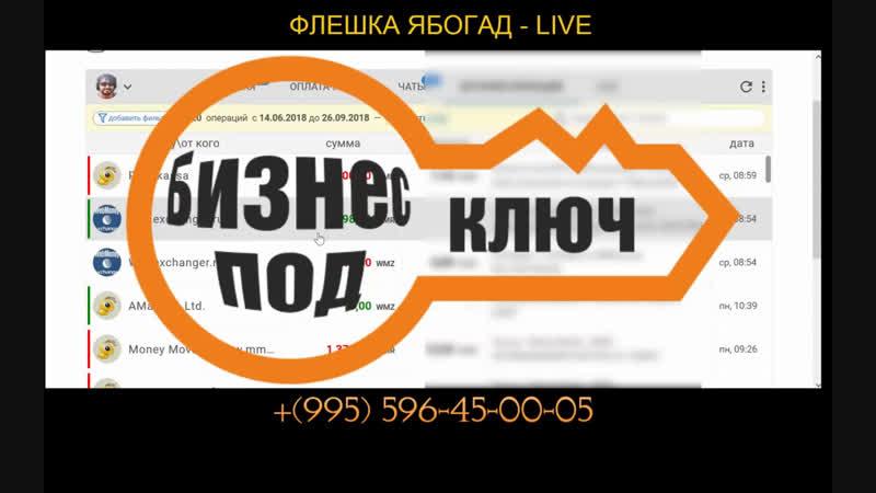 ФЛЕШКА ЯБОГАД ЛАЙФ ПРЯМОЙ ЭФИР НОВЫЙ КУРС от АЛЕКСАНДРА АБЕСЛАМИДЗЕ afinance.pro/independent-trading-ru/g/KUYPU