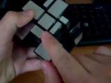 Обучение сборки зеркального кубика 3х3 (первый слой)