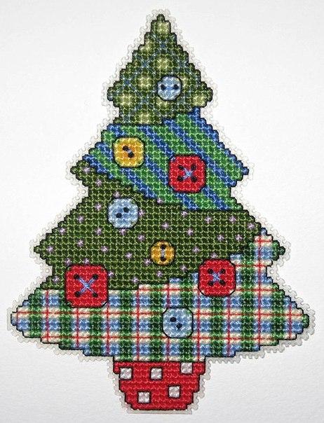 вышивка крестиком новогодних