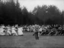 Первый год Советской власти в России. Детский праздник крестьянского Совета деревни Мытищи, июнь 1918 г.