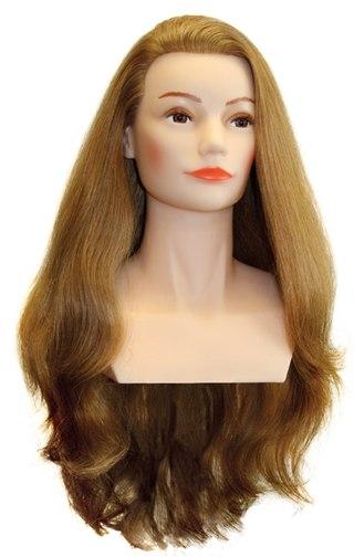 Манекен головы для причесок с натуральными волосами цена