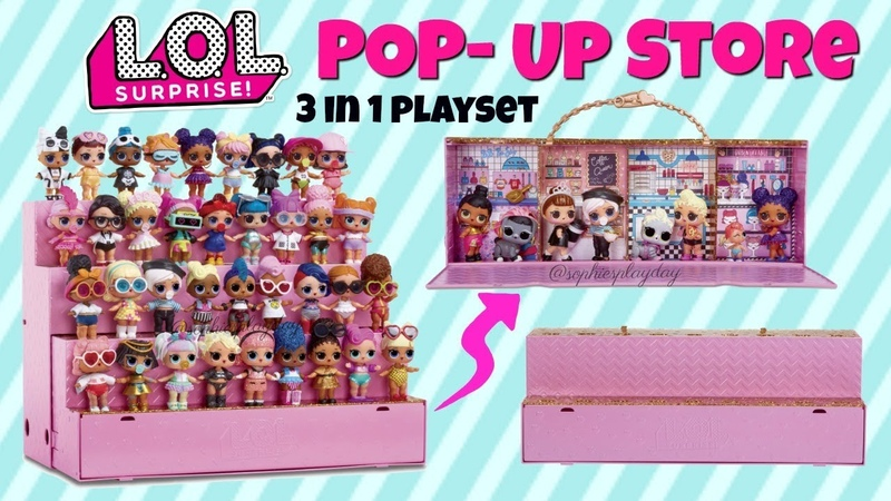 LOL Surprise Pop Up Store FIRST LOOK 3in1 LOL Surprise Playset Coming Soon 2018 Top Christmas Toys