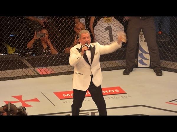Bruce Buffer Introductions Jose Aldo vs Max Holloway - UFC 212 Rio