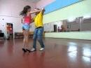 Танец Сальса - 2014-08-12 Слава - Ирина in dance studio DancA г. Гомель, Беларусь!