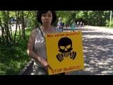 Виктория Копейкина о проблеме полигонов и мусоросжигательных заводов Сокольники митинг 12.05.18