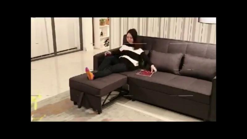 Mẫu sofa giường tiện ích cho phòng khách hẹp
