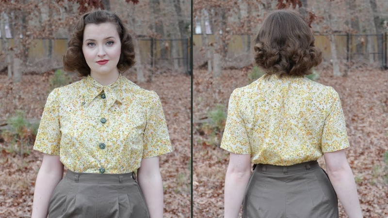 Following a 1950s Blouse Pattern Sewing through the Decades