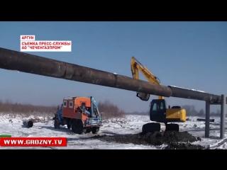 В Аргуне ведется строительство воздушной линии газопровода