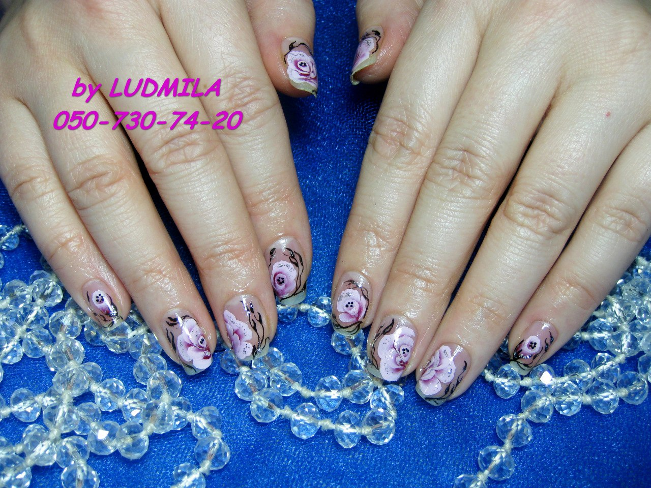 Китайская роспись на натуральных ногтях, Зиберова Людмила