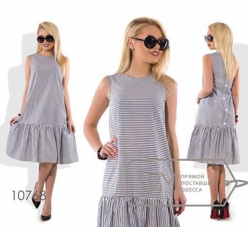Платье  № 10768 ( полосы серые)