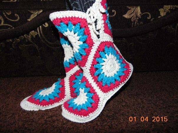 Видеоурок вязание сапожек