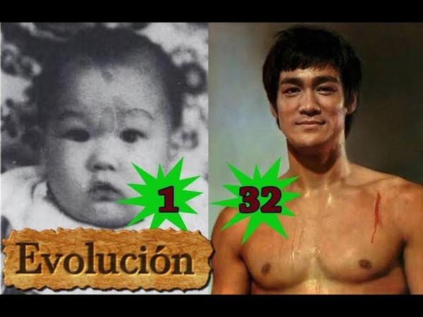 Como Bruce Lee ha cambiado - Evolución de 1 a 32 años.