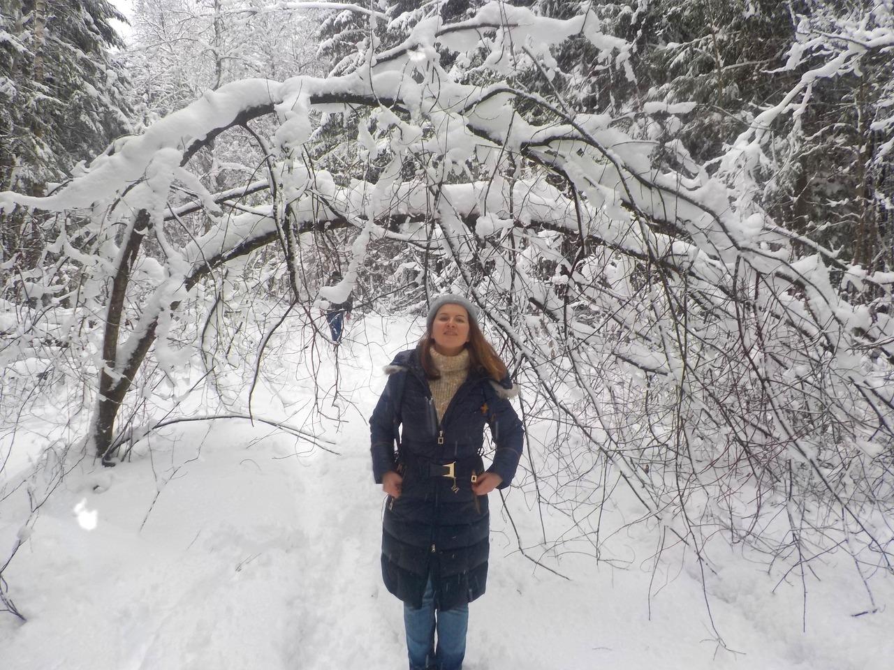 Предновогодний поход в районе Белоострова. Зимний лес и взятие штурмом ДОТа. Блины на костре