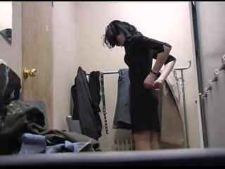 Locker room pantyhose voyeur