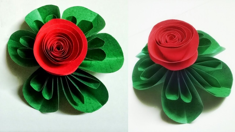 Star Paper Flower Making With Color Paper By Mimu Craft | Diy Easy Craft Ideas For Room Decoration