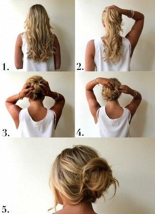 Пошаговая Инструкция Вечерних Причесок На Средние Волосы