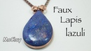 How to make faux Lapis Lazuli New polymer clay technique
