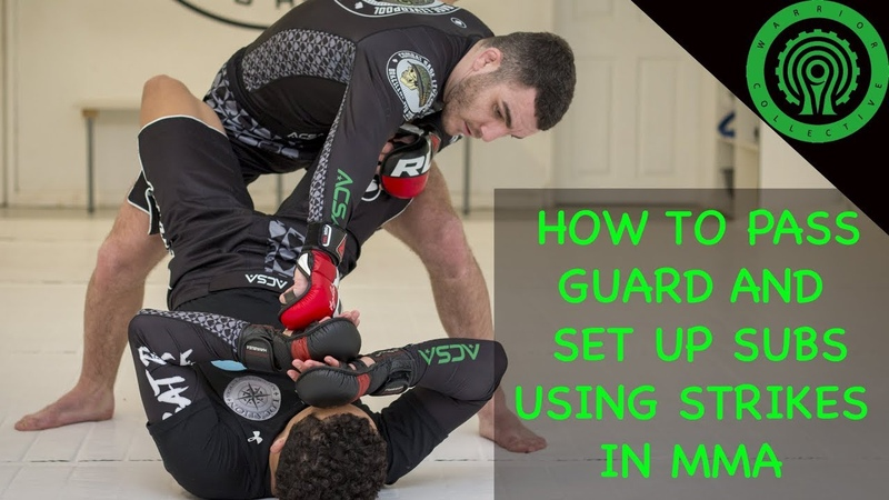 MMA Drills - How to Pass Guard and Set Up Subs Using Strikes