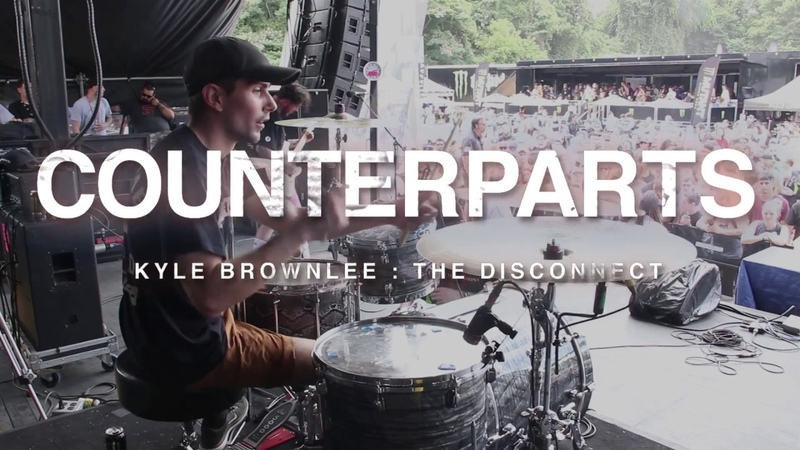 Counterparts The Disconnect Kyle Brownlee Drum Cam Warped Tour 2017