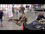 Часть 2. Maker Faire 2016 - Lasercut Animatronic Roy Robot