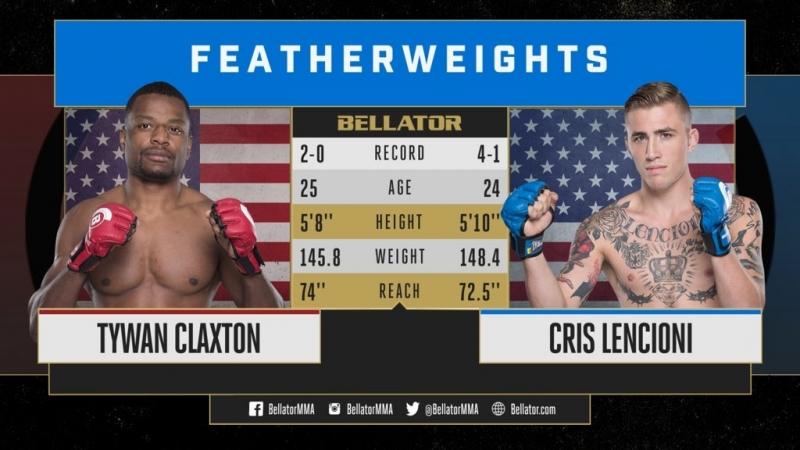 Bellator 204 Тайван Клакстон (2-0) – Крис Ленциони (4-1)