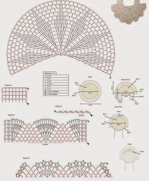 Materiales gráficos Gaby: Juego de baño en ganchillo